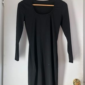 Stretchy long sleeve round neck sexy LBD